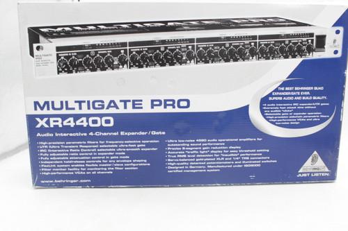 BEHRINGER MULTIGATE PRO XR4400 4-Ch Audio Interactive Quad Expander / Gate w/ box & Manual