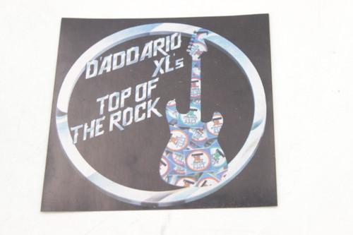 "D'Addario XL's Top of The Rock Vintage Guitar String Sticker 4"""