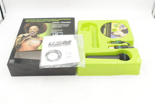 Lightsnake USB Microphone & Illuminated Cable w/ Voice Trainer Software - Mic