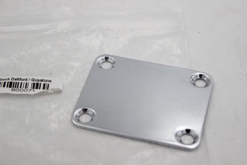 Chrome Guitar Neck Plate Fender-Sized w/ Neck Screws