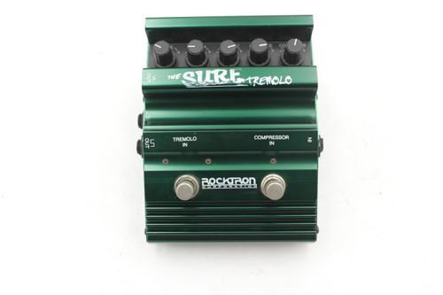 Rocktron The Surf Tremolo Compressor Hush Enhancer Rare Guitar Effect Pedal