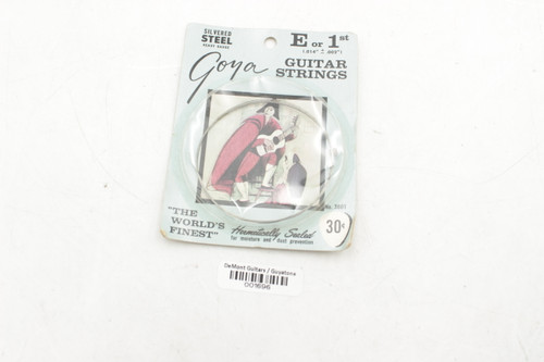 Vintage NOS Goya Silvered Steel Guitar String clear nylon E or 1st, no. 3601