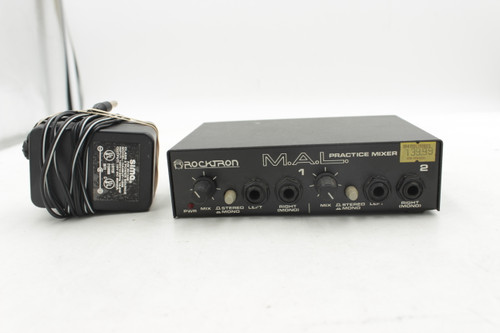 Rocktron Made in USA M.A.L Practice Mixer w/ Power Supply