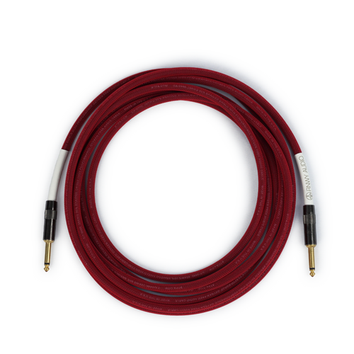 Runway Audio Instrument - Red Cable - Guitar, Bass, 15 Ft, ST-ST