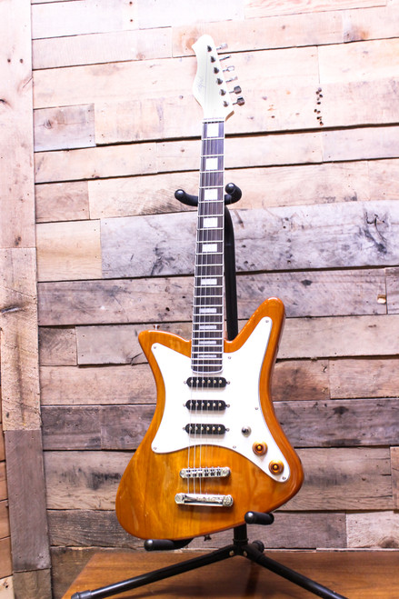 Goldfinch Painted Lady 8210 Mahogany Electric Guitar - New  *NOT related to DeMont Goldfinch*  Solid Mahogany body w/ gloss finish satin maple neck
