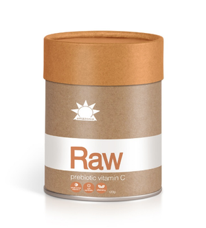 Raw Prebiotic Vitamin C is designed to nourish the immune and digestive systems while supporting collagen production. No chemicals are used to isolate the vitamin C and its highly bioavailable wholefood form allows for easy absorption. With prebiotics, aloe vera and over 400mg of vitamin C per serve. Shine brighter.