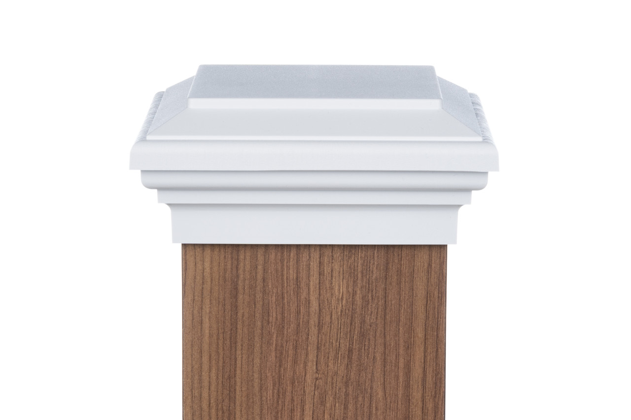 Woodway Flat Top 6x6 Post Cap Pack of 8 Fits Up to 5.5 x 5.5 Inch Post Newel Post Top 6 x 6 Treated Wood Fence Post Cap