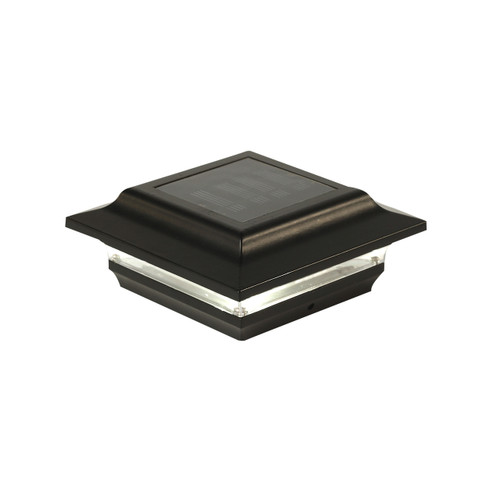 Four by four Black Solar Post Cap - Aluminum. Fits three and one half inch and four inch post.