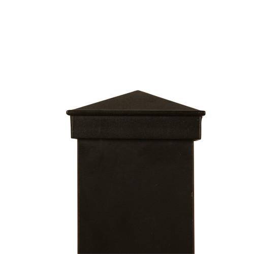 Actual three inch by three inch black aluminum Post Caps.