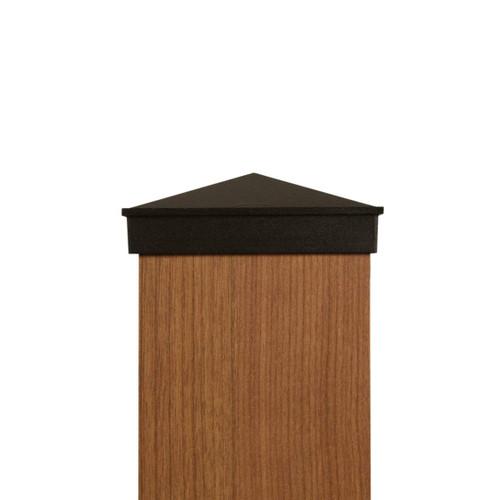 Four by four black Aluminum Post Cap
