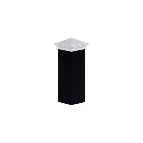 Actual two inch by two inch White Aluminum Post Cap