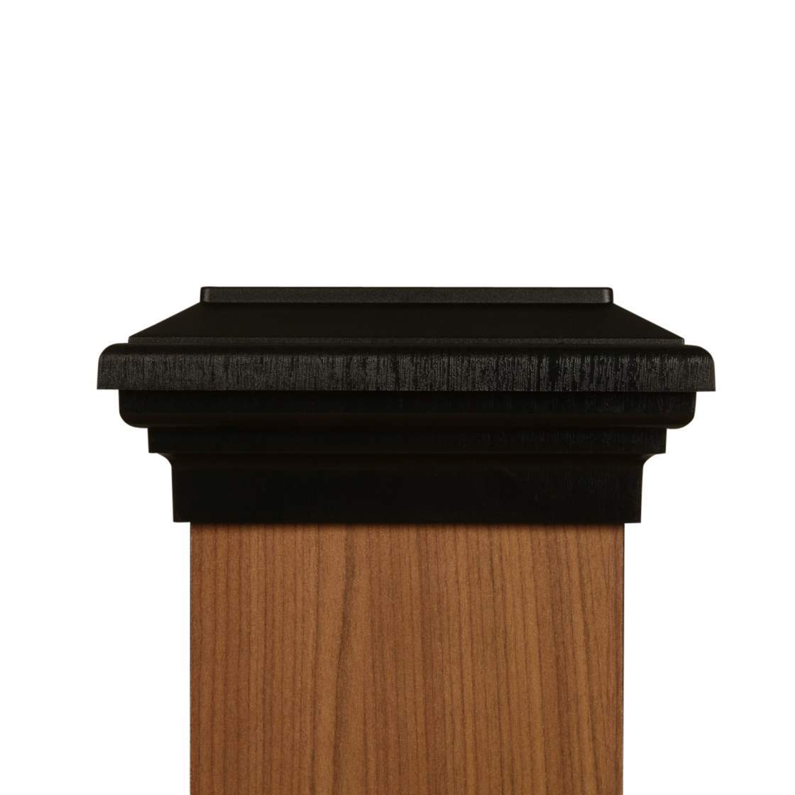 d4dee82711a75 6x6 Post Cap │ Black Flat Top │Fence Post Caps│Deck Post Caps ...