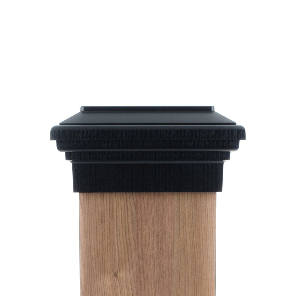 25dbe4b9eb5c4 8x8 Post Cap │Black Flat │ Fence Post Caps │Deck Post Caps ...