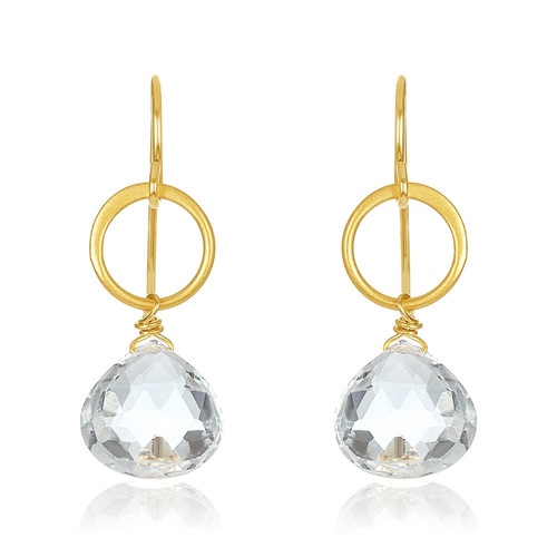 White Topaz Drop Earrings | Brilliant Atlanta