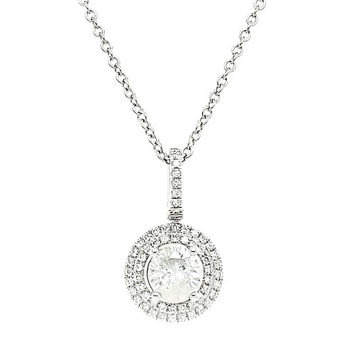 Diamond Double Halo Pendant | Brilliant Atlanta