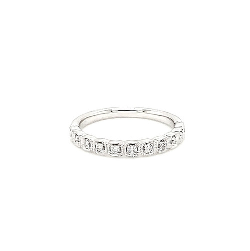 Cushion Shaped Diamond Half Band | Brilliant Atlanta