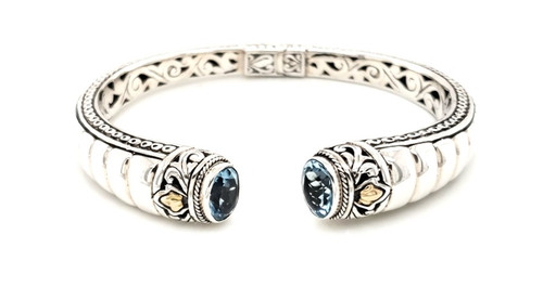 Blue Topaz Cuff | Brilliant Atlanta