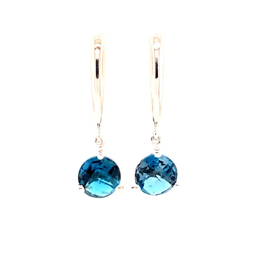 London Blue Topaz Dangle Earrings | Brilliant Atlanta