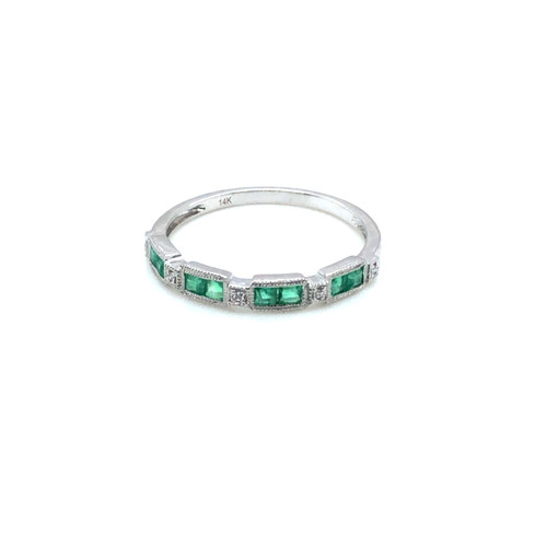 Diamond + Emerald Half Band