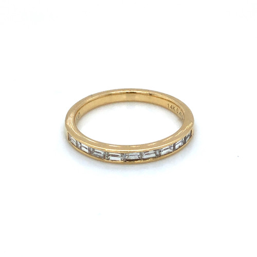 Diamond Channel Baguette Half Band | Brilliant Atlanta