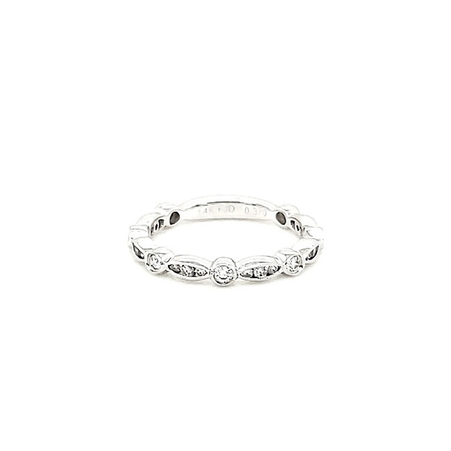 Round + Marquise Shaped 3/4 Diamond Band | Brilliant Atlanta