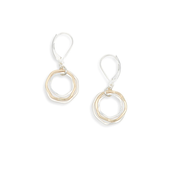 Triple Circle Leverback Earrings | Brilliant Atlanta