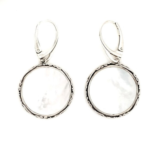 Mother of Pearl Lever Back Earrings | Brilliant Atlanta