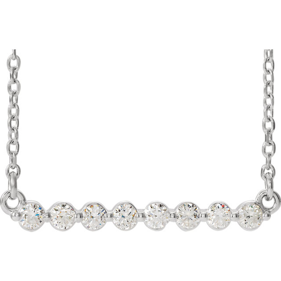 Diamond Bar Necklace | Brilliant - Custom Design Studio and Jewelry Boutique