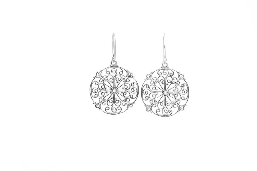 Large Round Filigree Drop Earrings | Brilliant - Custom Design Studio and Jewelry Boutique