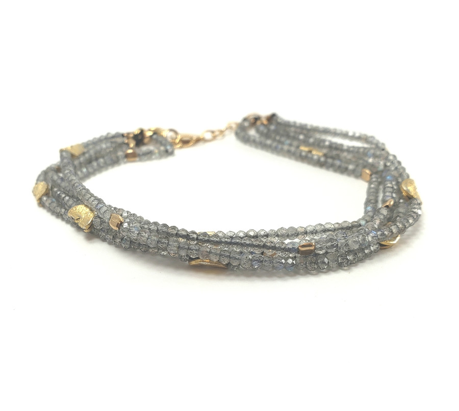 Multi-Strand Labradorite Bracelet | Brilliant - Custom Design Studio and Jewelry Boutique