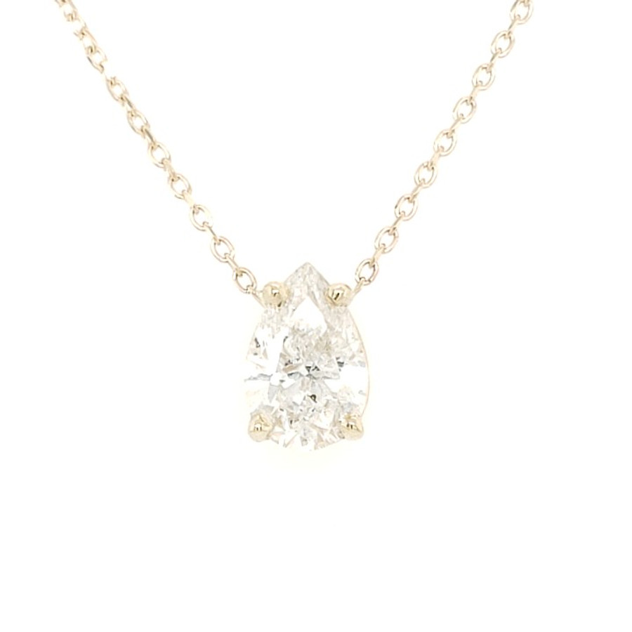 Pear Shaped Diamond Solitaire Necklace | Brilliant Atlanta