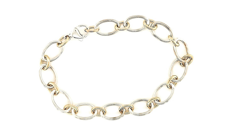 Two Tone Link Bracelet | Brilliant Atlanta