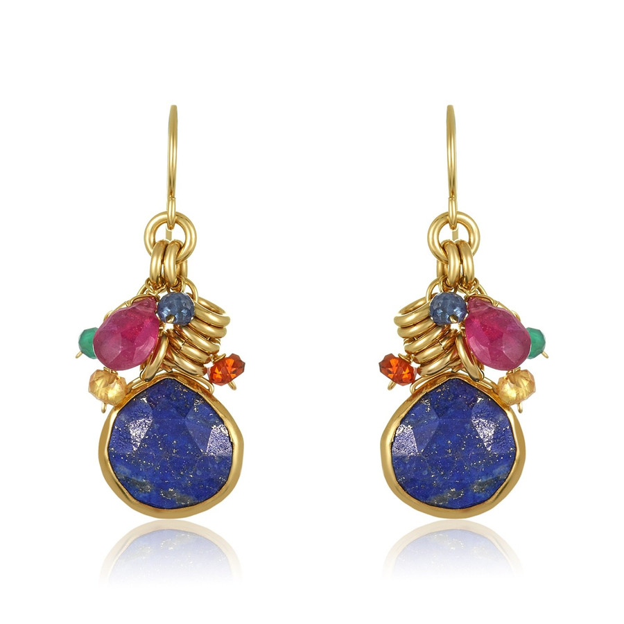Lapis Dangle Earrings | Brilliant Atlanta