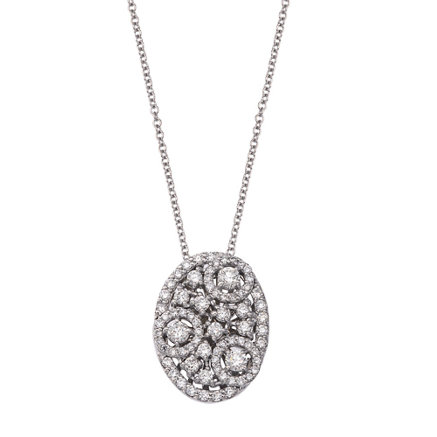 Multi-Diamond Oval-Shaped Necklace | Brilliant Atlanta