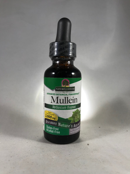 Mullein Extract, 2000 mg, Alcohol-Free, 1 fl. oz. -Extracto de Mullein, 2000 mg, Sin Alcohol, 1 fl. onz.
