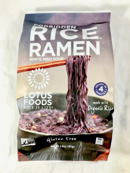 Rice Ramen, White Miso Soup, 2.8 oz. - Ramen de Arroz, Sopa de Miso Blanco, 2.8 oz.