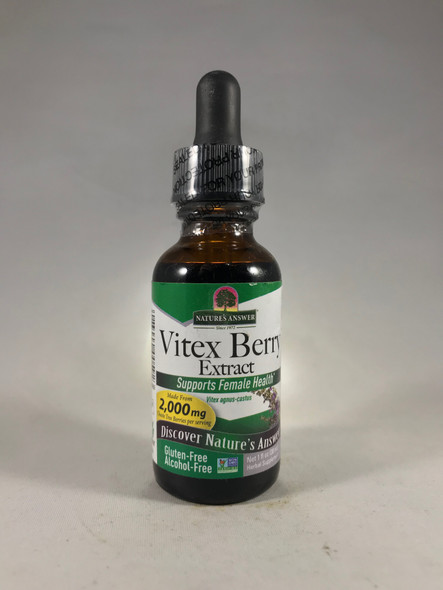 Vitex Berry Extract, 2000 mg, Alcohol-Free, 1 fl. oz. - Vitex Berry Extract, 2000 mg, Sin Alcohol, 1 fl. onz.