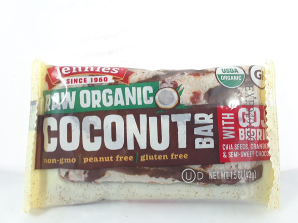 Bar, Coconut with Goji Berries, 1.5 oz. - Barra, Coco con Bayas de Goji, 1.5 oz.