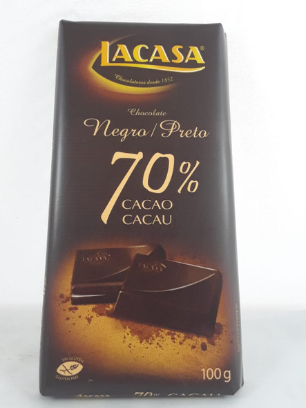 Chocolate Bar, 70 % Cacao, 100g - Barra de Chocolate, 70 %, Dark, 100 g