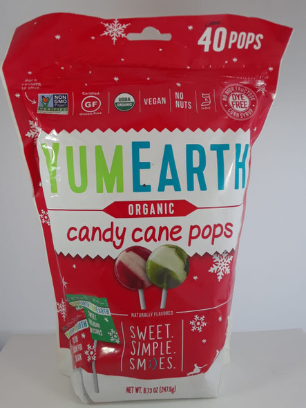 Candy Cane Pops, Organic, 8.73 oz.