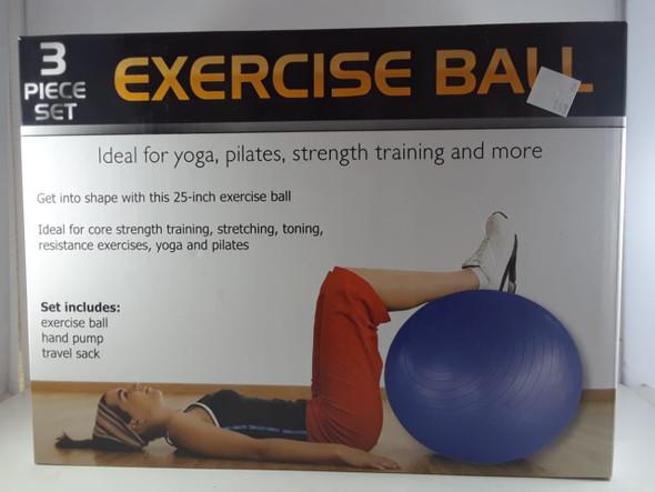 Exercise Ball, 3 Piece Set - Pelota de Ejercicio, Juego de 3 Piezas
