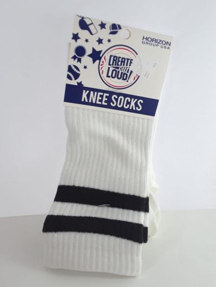 Knee Socks, White - Calcetines de Rodilla, Blancos