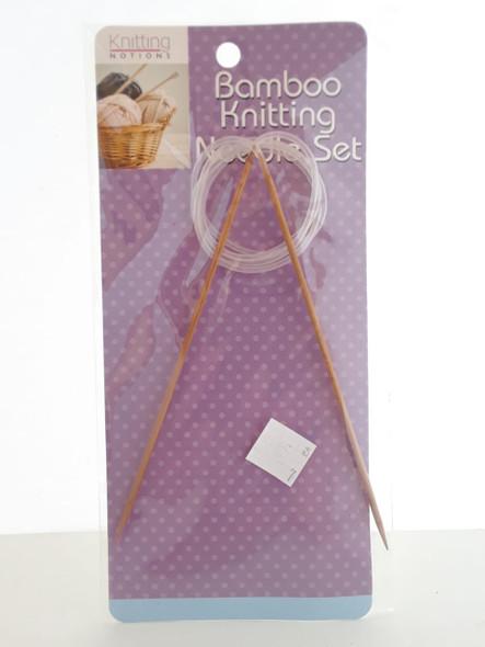 Bamboo Knitting Needle Set - Juego de Agujas de Tejer de Bambú