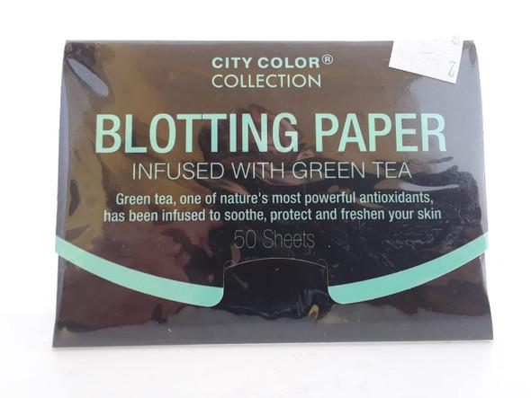 Blotting Paper, Infused with Green Tea, 50 Sheets - Papel Secante, con Infusión de Té Verde, 50 Hojas