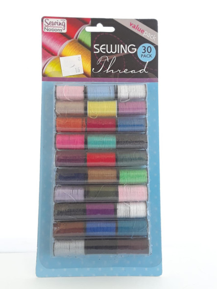 Sewing Thread, 30 Pack - Hilo de Coser, 30 Paquetes
