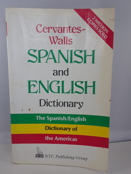 Spanish and English Dictionary - Cervantes Walls