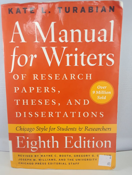 A Manual for Writers, Eighth Edition - Kate L. Turabian