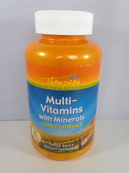 Multi-Vitamins with Minerals, Twice Daily, 120 Tablets