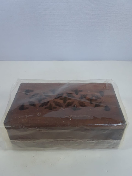 Perforated Wood Box W/Brass Edges - Caja de Madera Perforada con Bordes de Bronce