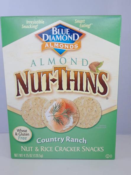Crackers, Nut & Rice, Wheat & Gluten Free, Country Ranch, 4.25 oz.  - Galletas, Arroz con Nueces, Trigo y Sin Gluten, Country Ranch, 4.25 oz. -
